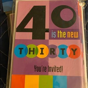 40 is the new THIRTY You're Invited! 40 total